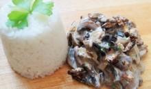 cricket & mushroom stroganoff
