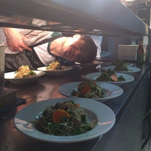 Our hard at it chef Seb. Crispy citrus insect noodles #ieatgrub