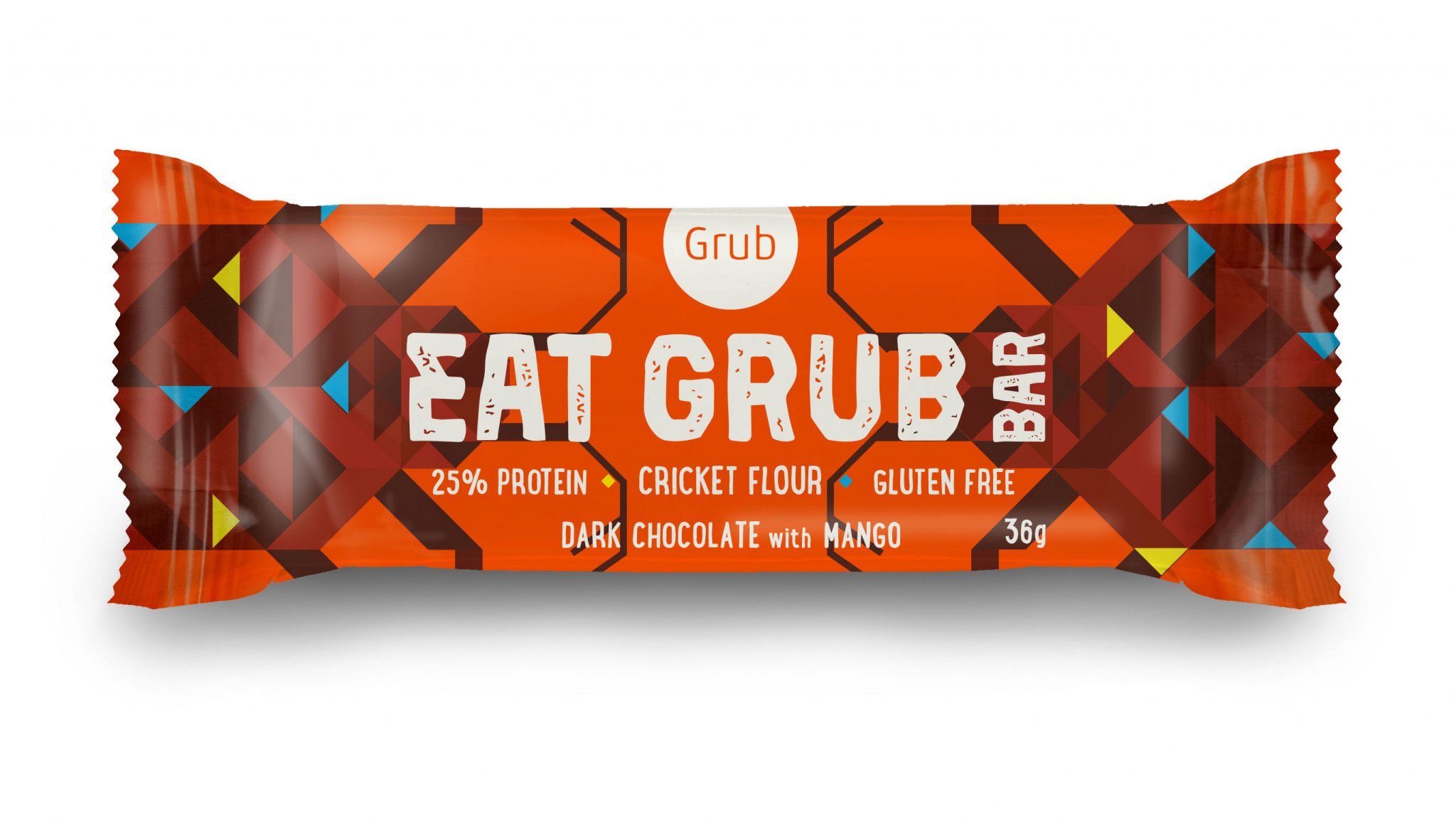 Eat Grub Bar - Dark Choc & Mango made with cricket four